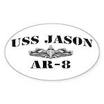 USS JASON Sticker (Oval)