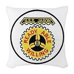 USS JASON Woven Throw Pillow