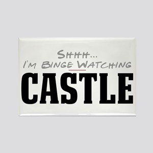 Shhh... I'm Binge Watching Castle Rectangle Magnet