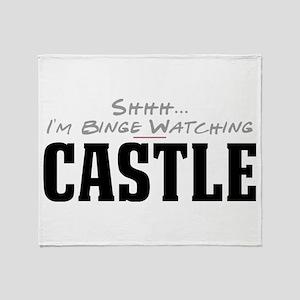 Shhh... I'm Binge Watching Castle Stadium Blanket