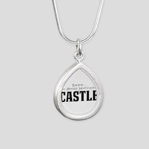 Shhh... I'm Binge Watching Castle Silver Teardrop