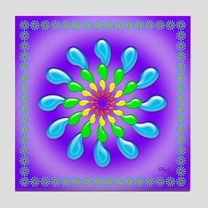 Rainbow Drops Design by Xennifer Tile Coaster