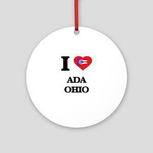 I love Ada Ohio Ornament (Round)
