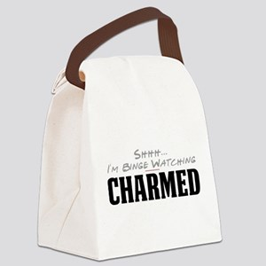 Shhh... I'm Binge Watching Charmed Canvas Lunch Ba
