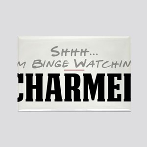 Shhh... I'm Binge Watching Charmed Rectangle Magne