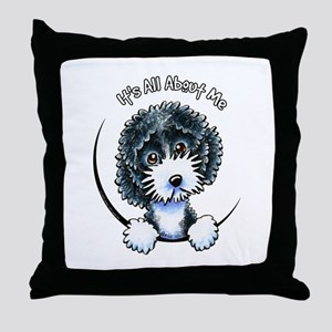 Cockapoo Blk Parti IAAM Throw Pillow