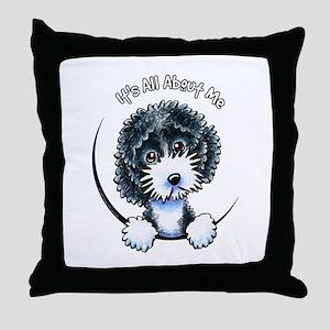 Cockapoo Blk Parti IAAM Throw Pillow