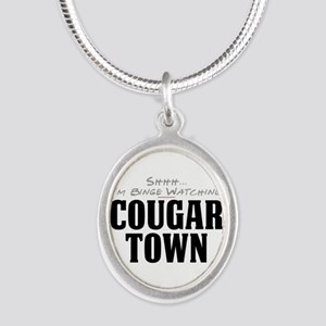 Shhh... I'm Binge Watching Cougar Town Silver Oval