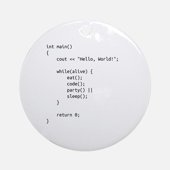 life.cpp Round Ornament