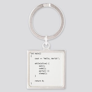 life.cpp Square Keychain