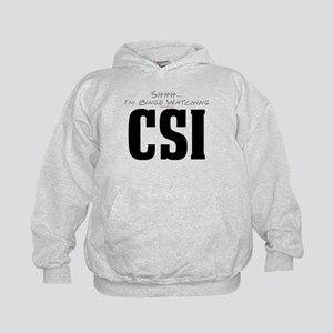 Shhh... I'm Binge Watching CSI Kid's Hoodie