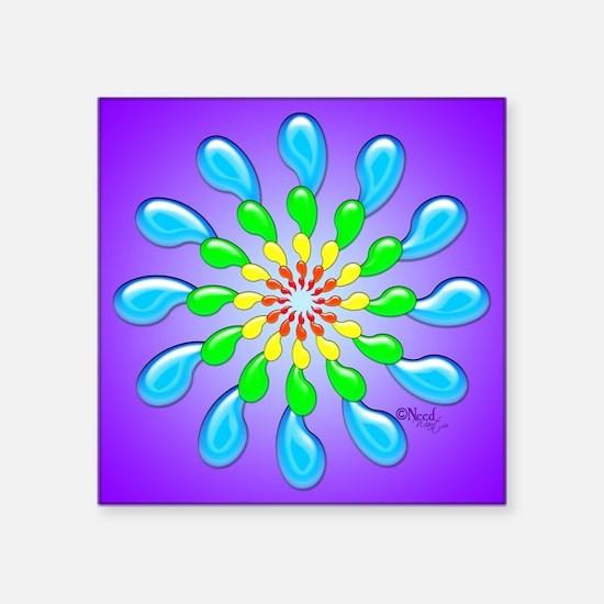 Rainbow Drops Design by Xennifer Sticker
