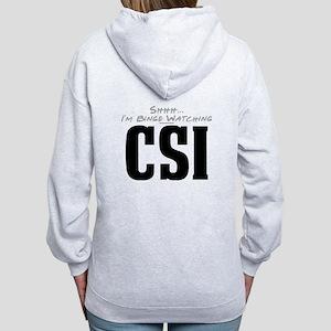 Shhh... I'm Binge Watching CSI Women's Zip Hoodie