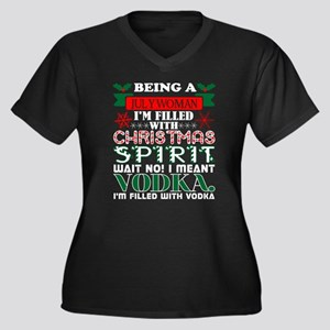 Being July Mom Filled Christmas Plus Size T-Shirt