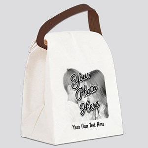 CUSTOM Photo and Caption Canvas Lunch Bag