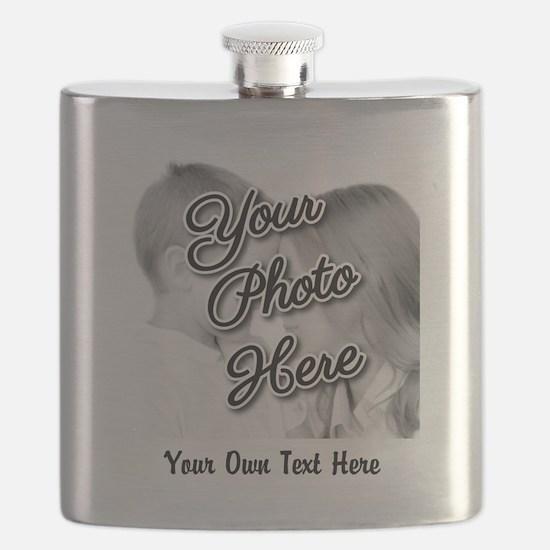 CUSTOM Photo and Caption Flask