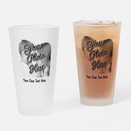 CUSTOM Photo and Caption Drinking Glass