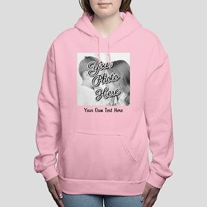 CUSTOM Photo and Caption Women's Hooded Sweatshirt