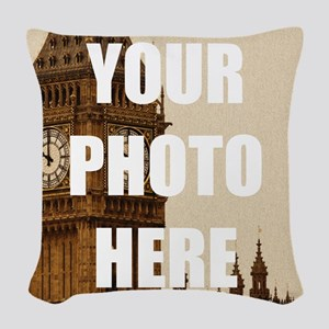 Your Photo Here Personalize It! Woven Throw Pillow
