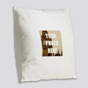 Your Photo Here Personalize It! Burlap Throw Pillo