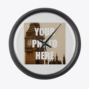 Your Photo Here Personalize It! Large Wall Clock