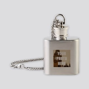 Your Photo Here Personalize It! Flask Necklace