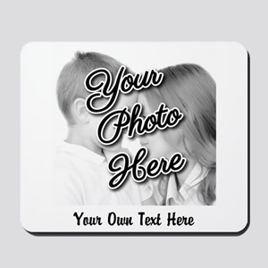 CUSTOM Photo and Caption Mousepad