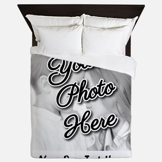 CUSTOM Photo and Caption Queen Duvet