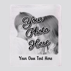 CUSTOM Photo and Caption Throw Blanket