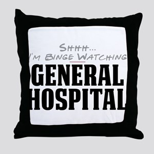 Shhh... I'm Binge Watching General Hospital Throw