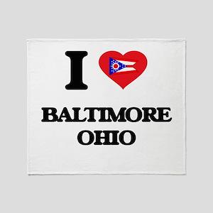 I love Baltimore Ohio Throw Blanket