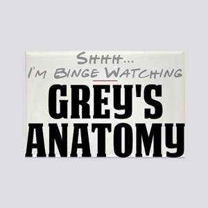Shhh... I'm Binge Watching Grey's Anatomy Rectangl