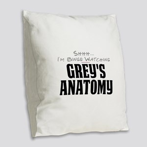 Shhh... I'm Binge Watching Grey's Anatomy Burlap T