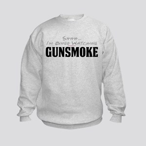 Shhh... I'm Binge Watching Gunsmoke Kids Sweatshir