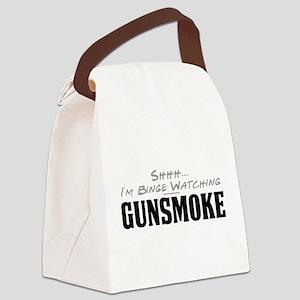 Shhh... I'm Binge Watching Gunsmoke Canvas Lunch B