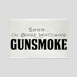 Shhh... I'm Binge Watching Gunsmoke Rectangle Magn