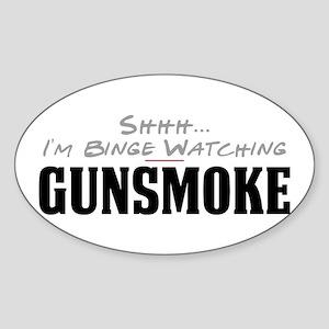 Shhh... I'm Binge Watching Gunsmoke Oval Sticker