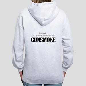 Shhh... I'm Binge Watching Gunsmoke Women's Zip Ho