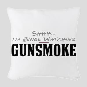 Shhh... I'm Binge Watching Gunsmoke Woven Throw Pi