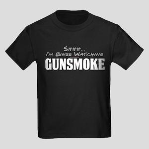 Shhh... I'm Binge Watching Gunsmoke Kids Dark T-Sh