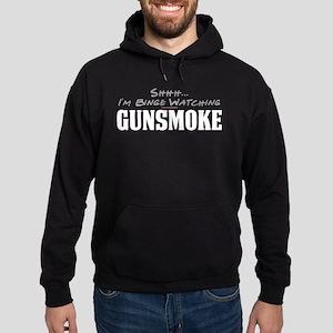 Shhh... I'm Binge Watching Gunsmoke Dark Hoodie
