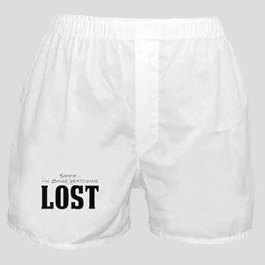 Shhh... I'm Binge Watching LOST Boxer Shorts