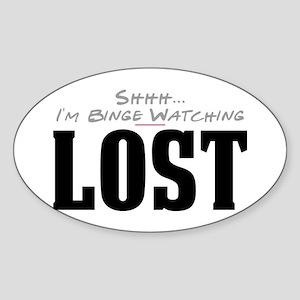 Shhh... I'm Binge Watching LOST Oval Sticker