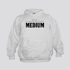 Shhh... I'm Binge Watching Medium Kid's Hoodie