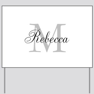 Monogram Initial And Name Personalize It! Yard Sig