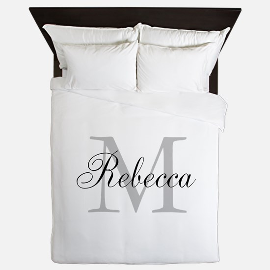 Monogram Initial And Name Personalize It! Queen Du