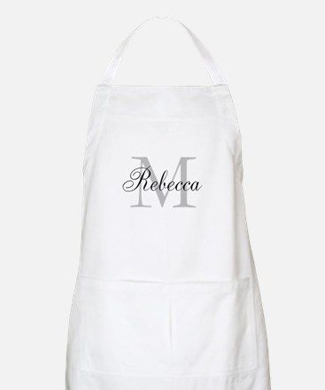 Monogram Initial And Name Personalize It! Apron