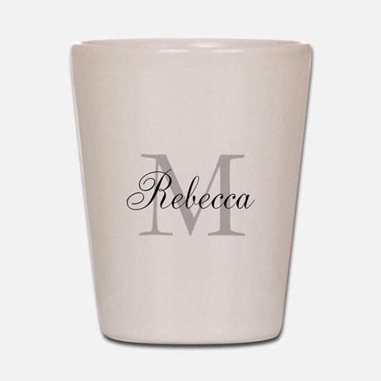 Monogram Initial And Name Personalize It! Shot Gla
