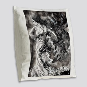 Echoes Of The Past Burlap Throw Pillow