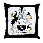 Robotham Family Crest Throw Pillow